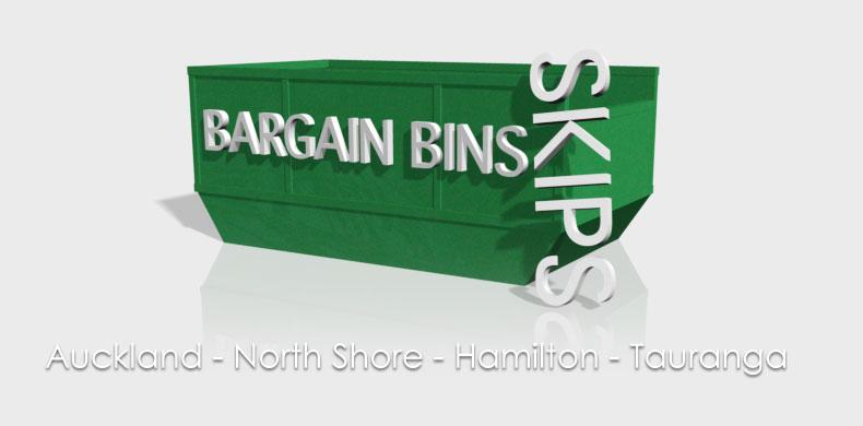 Bargain Bins Skips Logo
